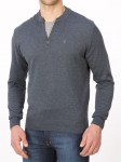 Sweter polo grafitowy - regular